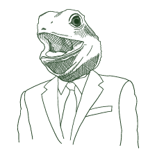 Lizard person drawing